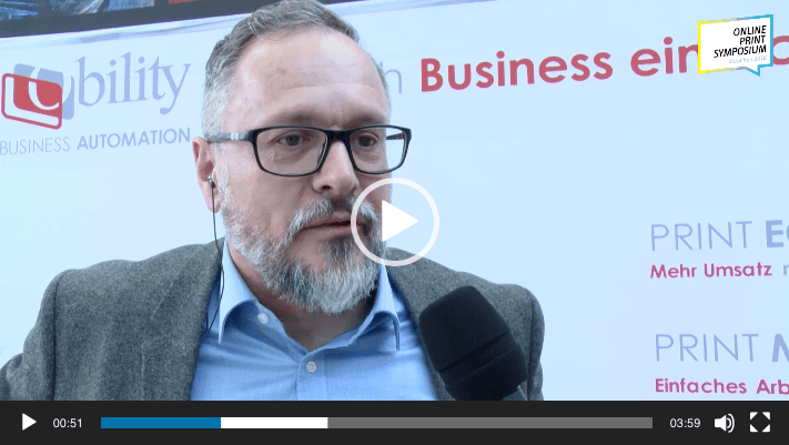 Video-Interview auf dem Online Print Symposium 2018 mit Frank Siegel, CEO