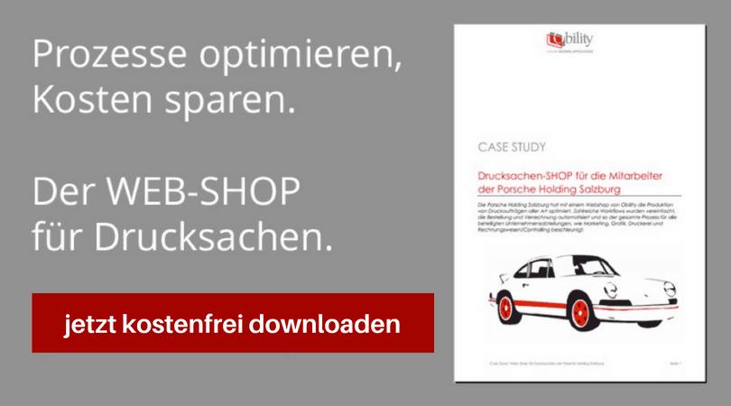Drucksachen-Shop für die Mitarbeiter der Porsche Holding Salzburg