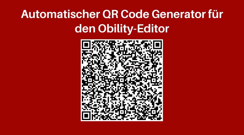 Automatischer QR Code Generator für den Obility Web-to-Print Editor