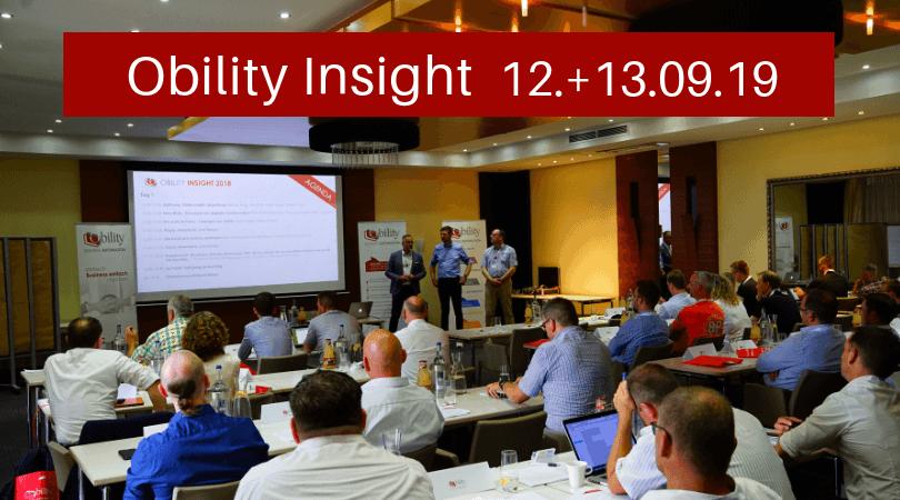 Obility Insight 2019 – Anwender- und Branchentreff
