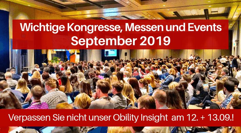Veranstaltungen für die Druckbranche, September 2019