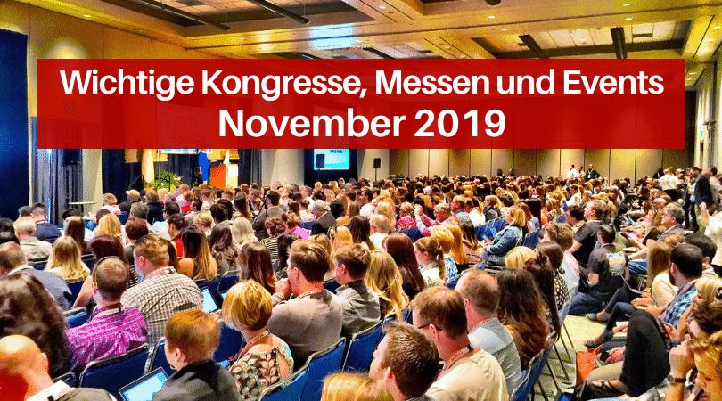 Veranstaltungen für die Druckbranche, November 2019