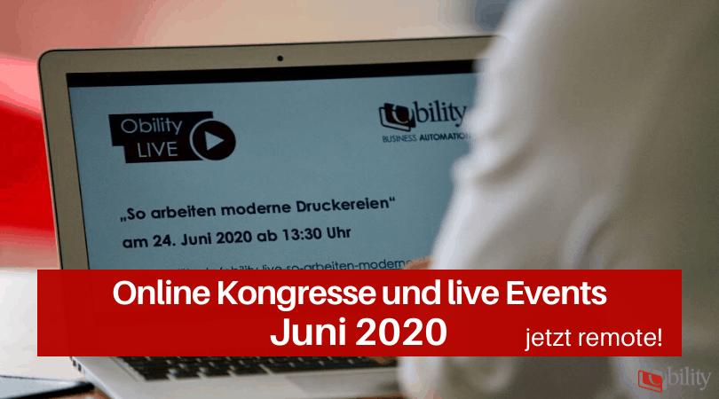 Veranstaltungen für die Druckbranche, Juni 2020