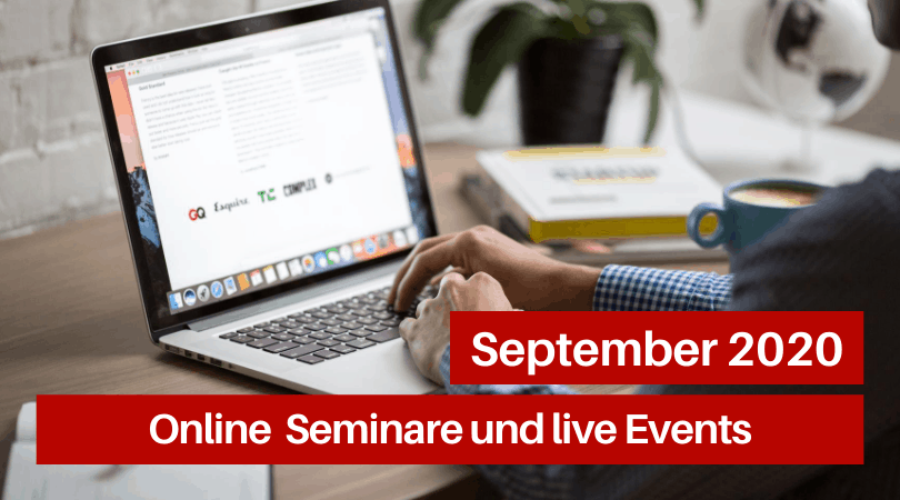 Veranstaltungen für die Druckbranche, September 2020