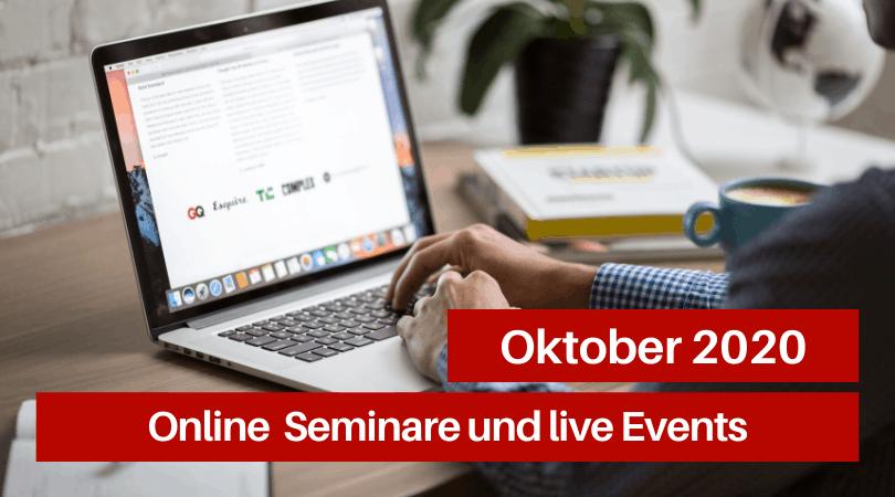 Veranstaltungen für die Druckbranche, Oktober 2020