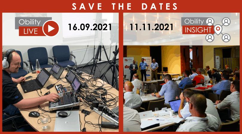 Save the Dates: zwei Obility-Events stehen in diesem Jahr an