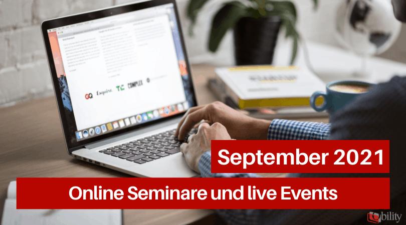 Veranstaltungen für die Druckbranche, September 2021
